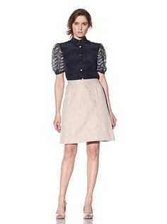 Bibhu Mohapatra Women's Short Sleeve Blouse with Zigzag Sleeves (IVORY)  $348.00  Authentic product  http://www.suprincess.com/bibhu-mohapatra-womens-short-sleeve-blouse-with-zigzag-sleeves-ivory-p-2237.html