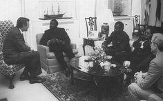 George Bush, Jonas Savimbi & Chester Crocker 1986.
