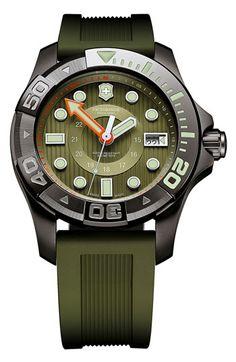 Victorinox Swiss Army® 'Dive Master' Gunmetal Strap Watch