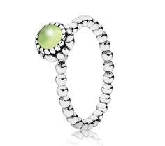 Pandora Silver & Peridot August Birthstone ring 190854PE - £40.00