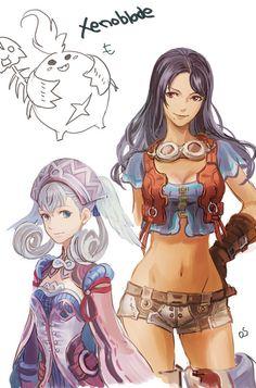 Xenoblade Chronicles - Melia and Sharla