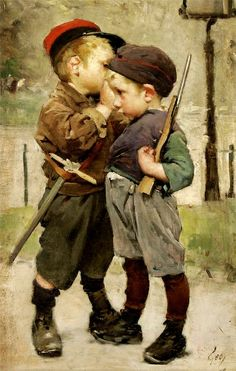 """SERENITY: HENRY JULES JEAN GEOFFROY and the surprising SALE """"STORIES"""" OF CHILDREN AND CHILDREN - 1853 - 1924 French Painter"""