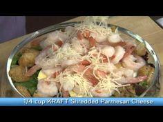 Recipes - Layered Caesar, Shrimp & Pasta Salad Cooking #Recipes #recipe #cook #food