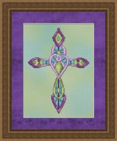 Ornate Cross #2 Cross Stitch limited number of free download avail....differ ones posted randomly