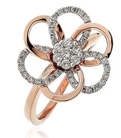 - A classic clover diamond dress ring, with round brilliant cut diamonds set in a grain setting. Emerald Cut Diamonds, Silver Diamonds, Diamond Rings, Diamond Cuts, Wedding Ring Finger, Dress Rings, 18k Rose Gold, Or Rose, Beautiful Rings