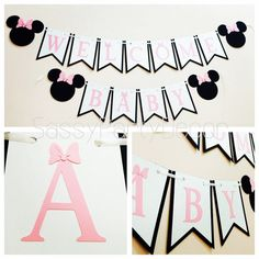 Minnie Mouse Baby Shower Banner