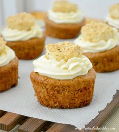 cupcake de banano saludable y sin azúcar