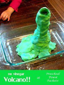Preschool Powol Packets: No-Vinegar Volcano Science Experiment