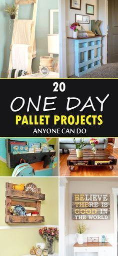 20 fantastic DIY pallet projects that you can do in just a day! 20 fantastic DIY pallet projects that you can do in just a day! The post 20 fantastic DIY pallet projects that you can do in just a day! appeared first on Home. Diy Wood Pallet, Wooden Pallet Projects, Diy Pallet Furniture, Wood Pallets, Furniture Ideas, Garden Furniture, Repurposed Furniture, Outdoor Pallet, Pallet Diy Decor