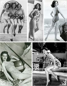 I love how classic and modest  swimwear was! And this just proves that curves are beautiful!