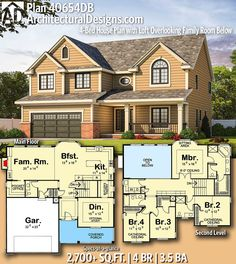 Architectural Designs House Plan 40654DB | 4 beds | 3.5 baths | 2,600+ Sq.Ft. | Ready when you are. Where do YOU want to build? #40654DB #adhouseplans #architecturaldesigns #houseplan #architecture #newhome #newconstruction #newhouse #homedesign #dreamhome #homeplan #architecture #architect #housegoals #dreamhouse #dreamhome #traditonal