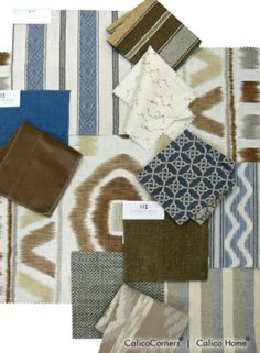 Family room - Thom Filicia Fabric Collection, Chocolate