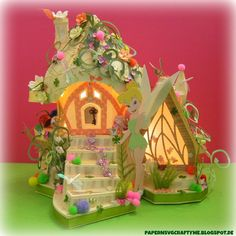 PAPER N SVG CRAFTY ME: TINKERS FAIRY COTTAGE - Paper DIY Fairy House using Silhouette Cameo and SVGCuts by Elke