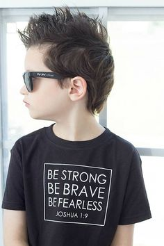 Be Strong Shirt - Be Strong and Courageous - Christian Shirt - Baptism Gift - Gift for Godson - Christening Gift - Bible Verse Shirt
