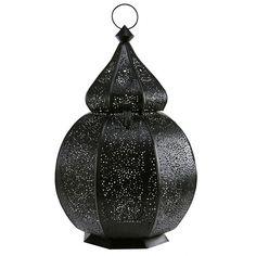 Sinbad - Lanterne orientale en métal ciselé noir
