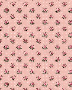 1920's pink floral wallpaper