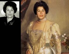 The portrait of Nelly Kossko this collage is based on a painting of an American artist John Singer Sargent. Portrait of Mrs. Asher B. Wertheimer, 1898.