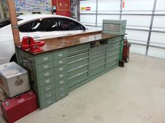 Workshop on pinterest welding table dust collection and for Bolt storage ideas