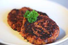 Hjemmelavet spicy 'bøf' med kikærter og kidneybønner