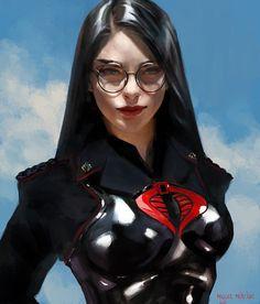 ArtStation - The Baroness, Miguel Mercado Marvel Dc, Marvel Comics, War Comics, Anime Comics, Comic Books Art, Comic Art, Baroness Gi Joe, Cobra Commander, Comics Universe