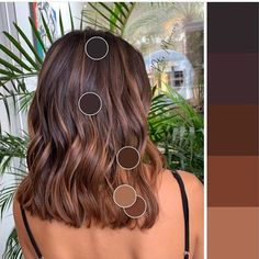 color ideas ideas 50 year old woman ideas app ideas medium ideas concert ideas wedding guests hairstyle for ideas bangs ideas Brown Hair Balayage, Brown Blonde Hair, Hair Color Balayage, Hair Highlights, Balayage Brunette, Brunette Hair, Medium Hair Styles, Curly Hair Styles, Grunge Hair