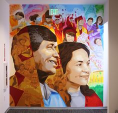 La paz a beautiful and beautiful on pinterest for Cesar chavez mural