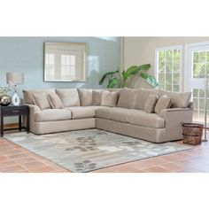 Findley Sectional   Fabric Sectional Sofas - Bernie And Phyls