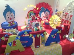 Plim plim Circus Birthday, Baby Birthday, Carnival Themes, Party Themes, Second Birthday Ideas, Ideas Para Fiestas, Happy Day, Birthday Candles, First Birthdays