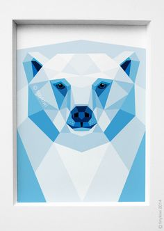 Hey, I found this really awesome Etsy listing at https://www.etsy.com/listing/194673480/polar-bear-portrait-geometric-print
