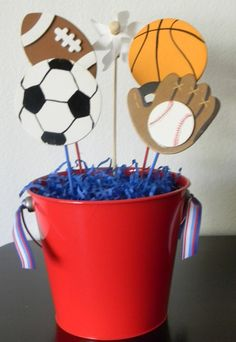 Fashionable sports centerpieces football wedding image collections decoration skillful design theme centerpiece sport party for tables bar mitzvahs Sports Themed Birthday Party, 2nd Birthday Parties, Boy Birthday, Themed Parties, Sports Centerpieces, Baby Shower Themes, Shower Ideas, First Birthdays, Deporte