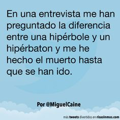 Diferencia entre hipérbole y hipérbaton. #humor #risa #graciosas #chistosas #divertidas