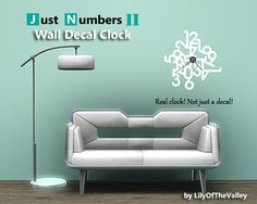 LilyOfTheValley's Wall Decal Clock - Just Numbers II