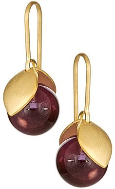 Arena Cph Elenora Gold Amethyst Earrings