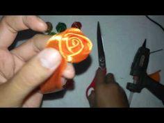 Tutorial / Cara Membuat Mawar Kuncup dari Pita Satin 1 inch Tutorial By RadistaCraft - YouTube