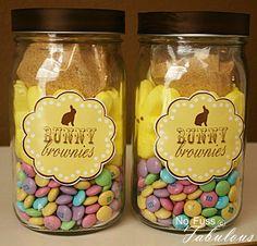 Bunny Brownies Easter DIY