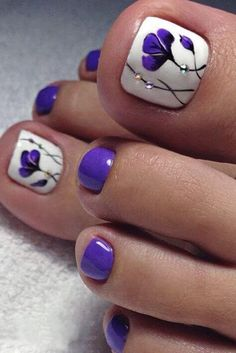The Fundamentals of Toe Nail Designs Revealed Nail art is a revolution in the area of home services. Nail art is a fundamental portion of a manicure regimen. If you're using any form of nail art on your nails, you… Continue Reading → Pretty Toe Nails, Cute Toe Nails, Fancy Nails, Gorgeous Nails, Diy Nails, Glitter Toe Nails, Purple Toe Nails, Purple Toes, Pretty Toes