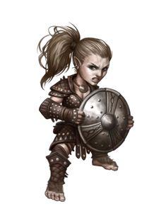 Female Halfling Brawler - Pathfinder PFRPG DND D&D d20 fantasy