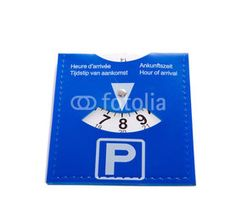 a Dutch parking card isolated over white