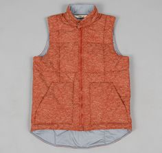 """TH-S & Co. Spring Vest, Red """"Ocean Print"""" Fabric x Outlier"""