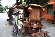 Food Stall, Repurposed Furniture, Food Truck, Sushi, Dining, Home Decor, Shop, Food, Decoration Home