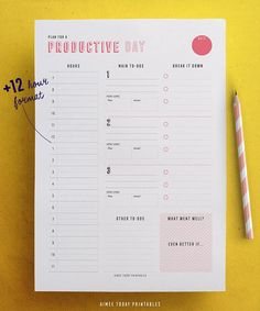 Daily Planner Printable planner Productivity Instant