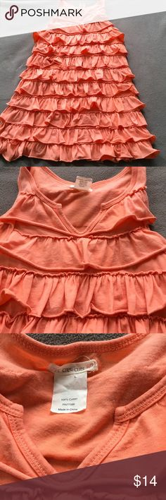 Crewcuts for girls ruffled dress. Sz 6/7 Excellent condition. Cute dress. A little lighter than pics maybe a peach color. I am an established Posh seller check out my other closet @Shanesmom2 J. Crew Dresses Casual