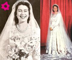 Vestido de novia de Isabel II de Inglaterra