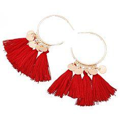 YAZILIND pendentif en forme d/éventail pendentif boucles doreilles Drop Dangle bijoux de style boh/ème pour les femmes