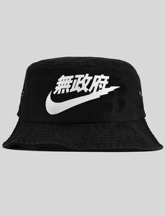 black nike bucket hat