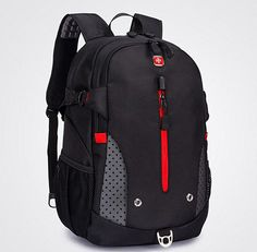 "Swissgear Men 15.6"" Notebook Backpack Laptop School Bag Outdoor Travel Black New 