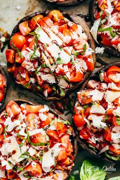 Grilled Bruschetta Portobello Mushrooms smothered in garlic butter are your new favourite way to eat a mushroom! Breakfast, Lunch OR dinner!