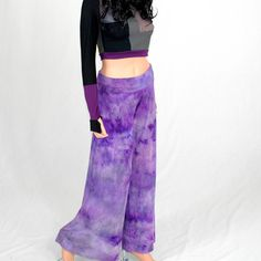A personal favorite from my Etsy shop https://www.etsy.com/listing/555768246/womens-wide-leg-pants-hand-dyed-gypsy