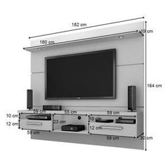 Panel for TV Toledo 1.8 with Led Ipê