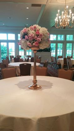 Pink and white wedding